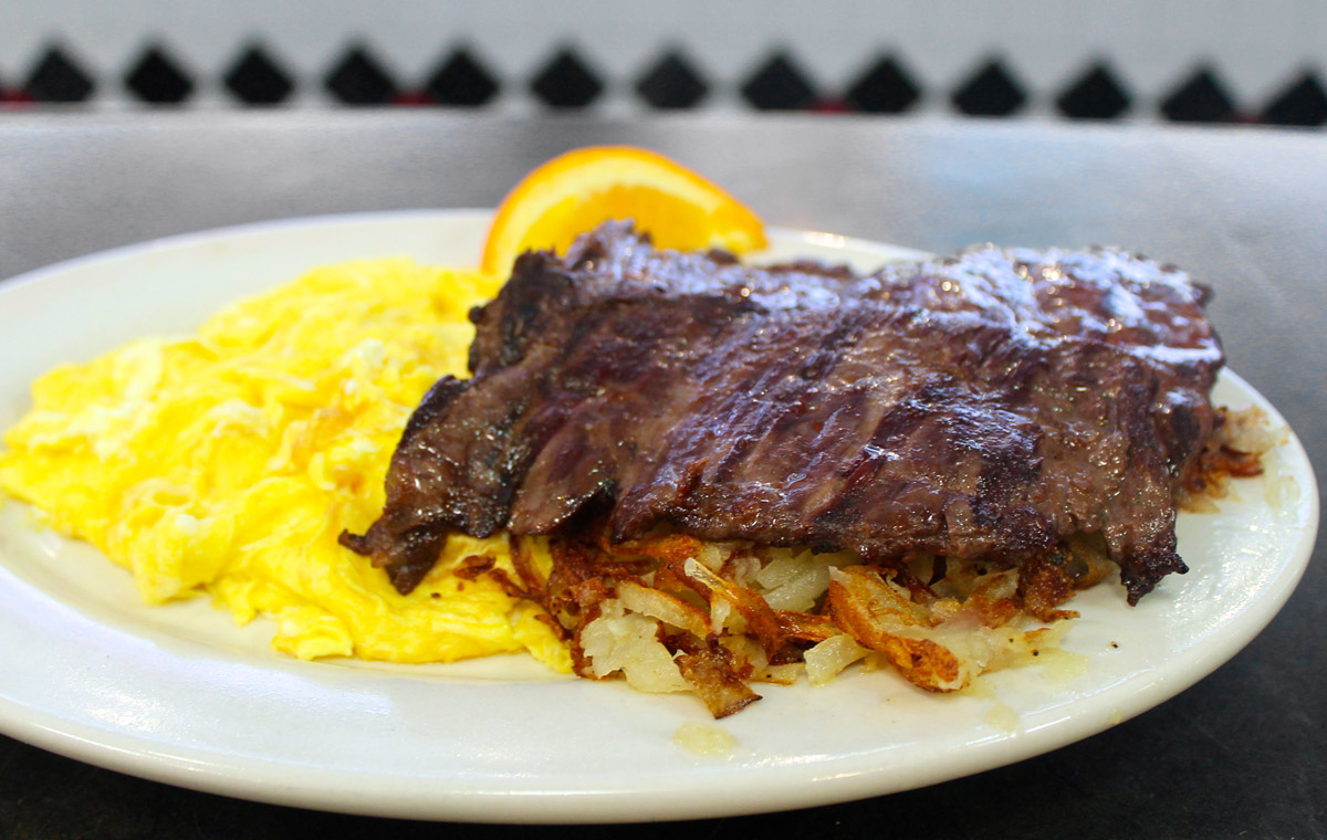 Skirt Steak and Eggs with Hash Browns