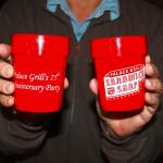 75th Anniversary drink cups